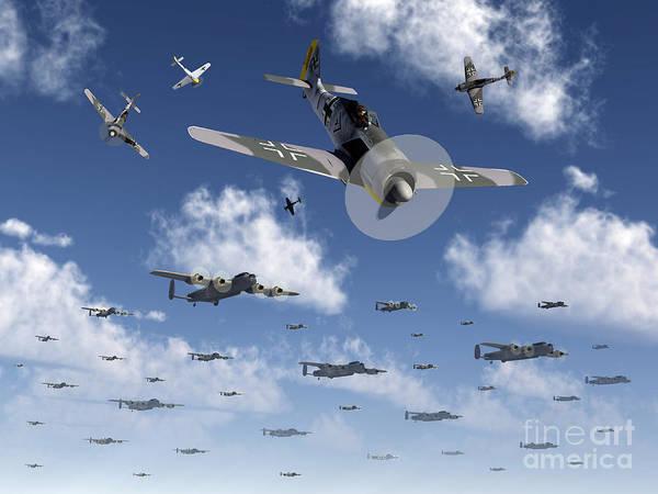 Digital Art - German Focke-wulf 190 Fighter Aircraft by Mark Stevenson