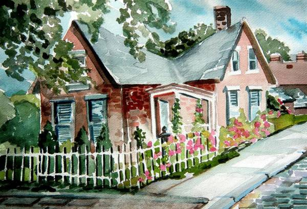 Wall Art - Painting - German Village House by Mindy Newman