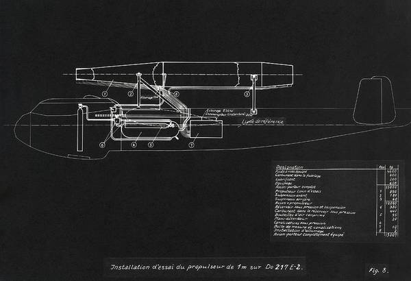 Wall Art - Photograph - German Wwii Ramjet Bomber Blueprint by Detlev Van Ravenswaay