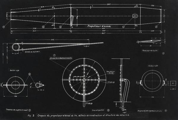 Wall Art - Photograph - German Wwii Ramjet Engine Blueprint by Detlev Van Ravenswaay