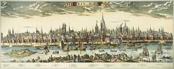 Wall Art - Photograph - Germany: Cologne, 1710 by Granger