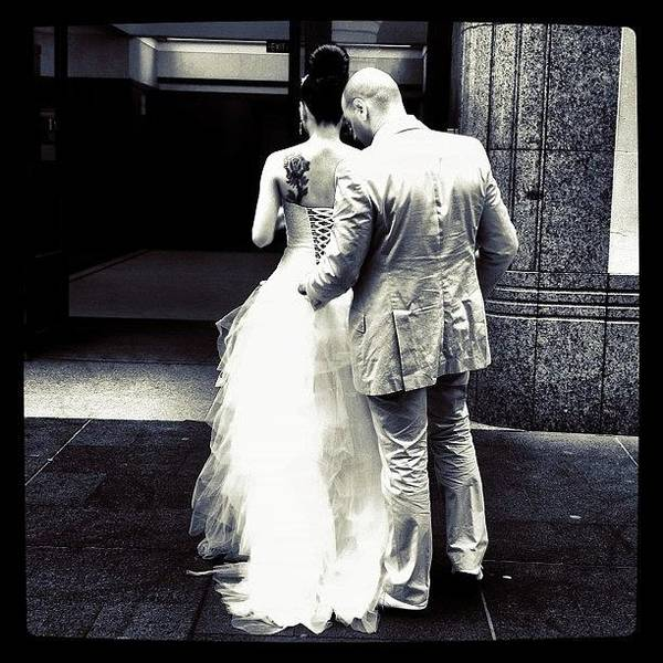Gotham Wall Art - Photograph - Getting Hitched #iphone4 by Kendall Saint