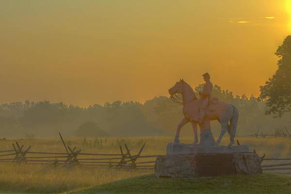 Cemetery Ridge Photograph - Gettysburg Morning Light by Randy Steele