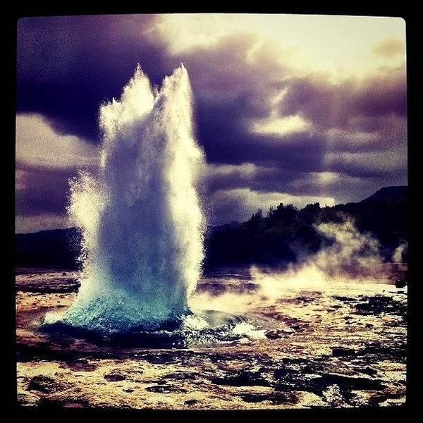 Travel Photograph - Geysir by Luke Kingma