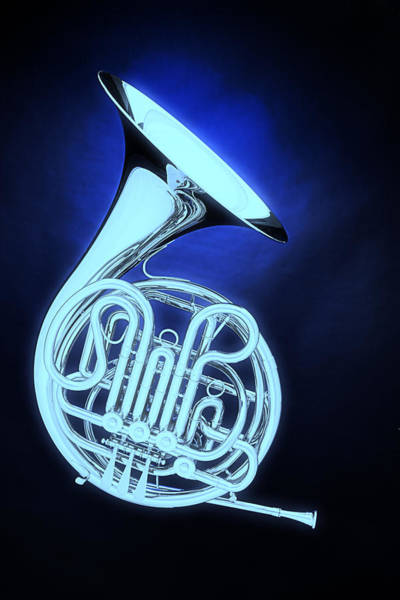 Photograph - Ghost French Horn On Bluw by M K Miller