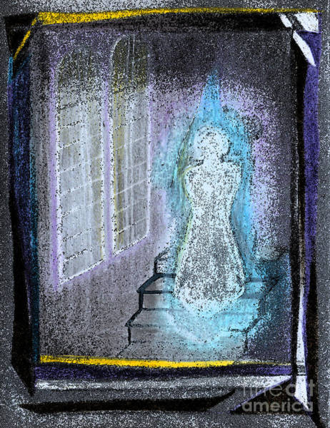 Mist Drawing - Ghost Stories Haunted Stairs by First Star Art