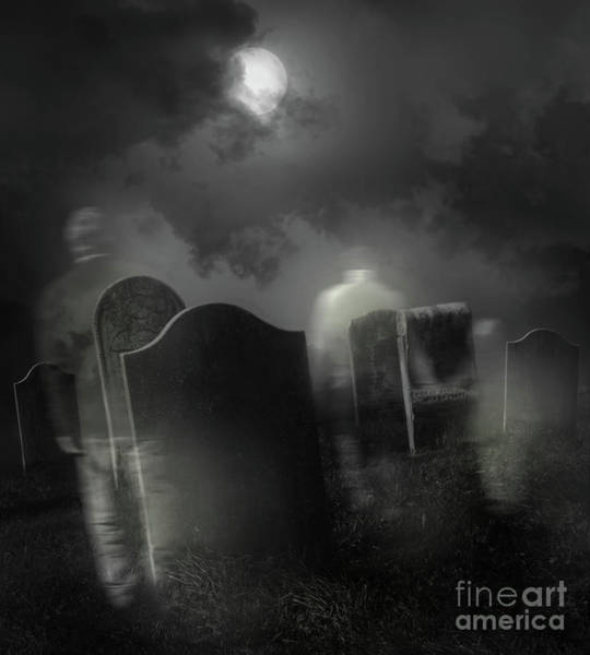 Wall Art - Photograph - Ghosts Wandering In Old Cemetery  by Sandra Cunningham