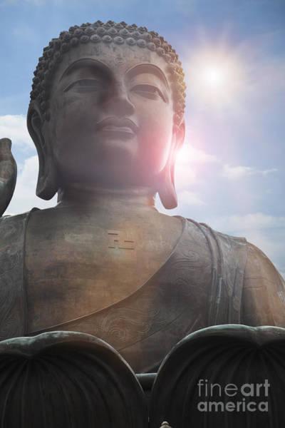 Giant Buddha Photograph - Giant Buddha by Charlotte Lake