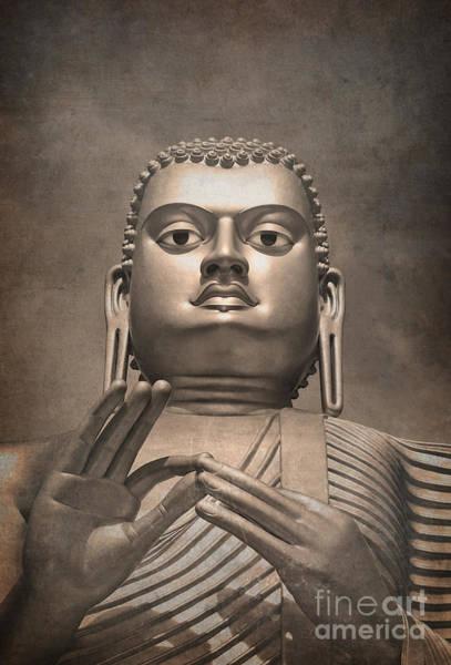 Wall Art - Photograph - Giant Gold Buddha Vintage by Jane Rix