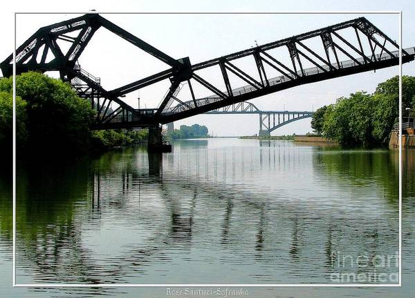 Photograph - Giant Scissors   Lift Bridge And Peace Bridge by Rose Santuci-Sofranko