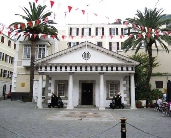 Photograph - Gibraltar Embassy House Cannon Ball Uk by John Shiron