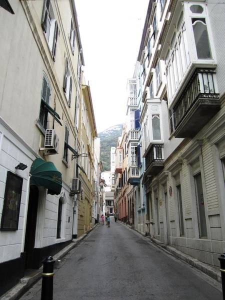 Photograph - Gibraltar Old Side Street Mountain View Uk by John Shiron