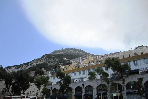 Photograph - Gibraltar Shopping Center Mountain View Clouds by John Shiron