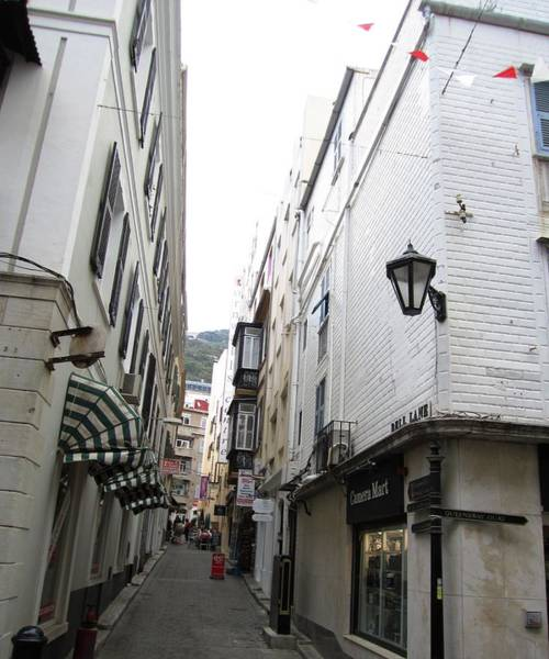 Photograph - Gibraltar Vintage Side Street Uk by John Shiron