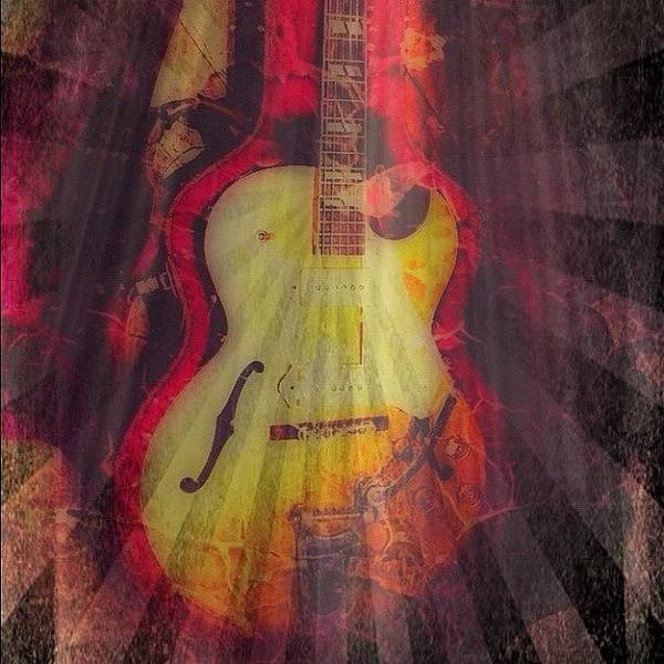 Jazz Wall Art - Photograph - Gibsun ;) #gibson #jazz #guitar #art by Keith  Greener