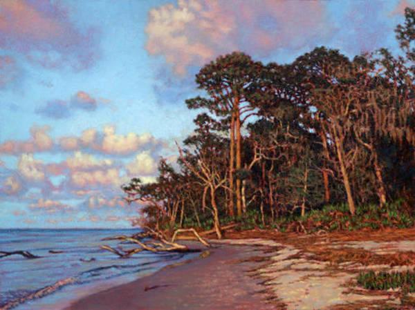 Jekyll Island Painting - Giclee Traversing Driftwood Beach by Michael Story