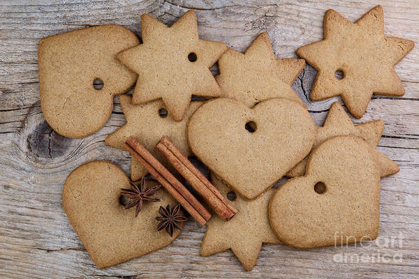 Cookie Wall Art - Photograph - Gingerbread by Nailia Schwarz