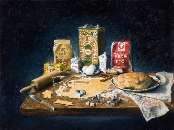 Painting - Gingerbread Recipe by Brandon Kralik