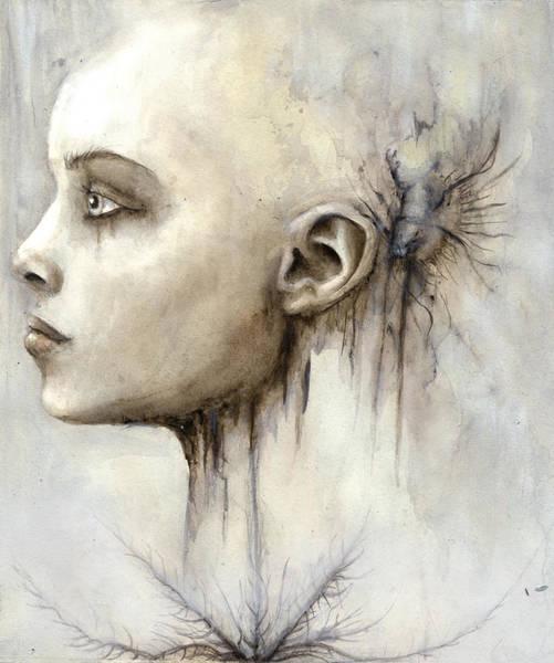Guache Painting - Girl by Bjorn Eek
