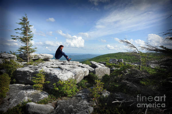 Photograph - Girl On Rock by Dan Friend