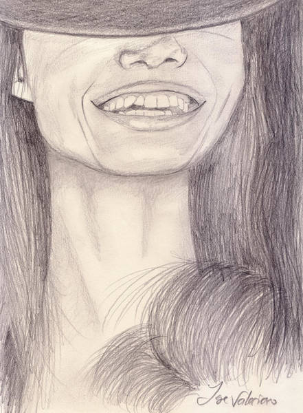 Photograph - Girl Smiling by M Valeriano