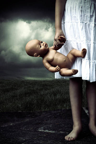 Wall Art - Photograph - Girl With A Baby Doll by Joana Kruse