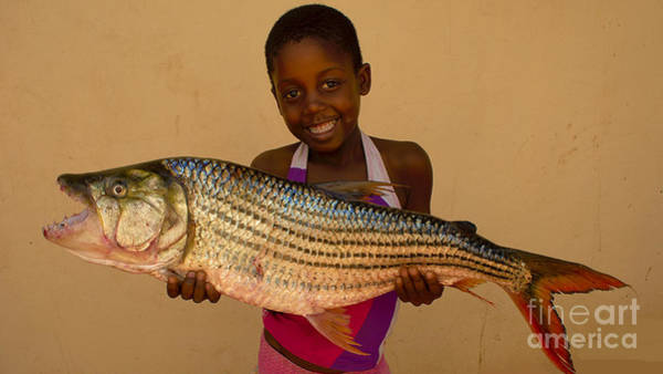 Photograph - Girl With Tiger Fish by Mareko Marciniak