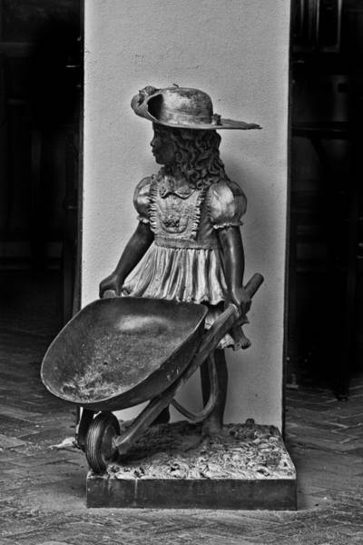 Photograph - Girl With Wheel Barrel by Bill Barber