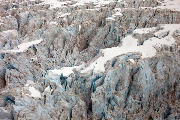 Crevasses Photograph - Glacial Crevasses by Mike Reid