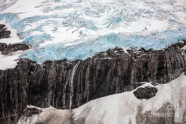 Petersburg Photograph - Glacial Edge Waterfall by Mike Reid