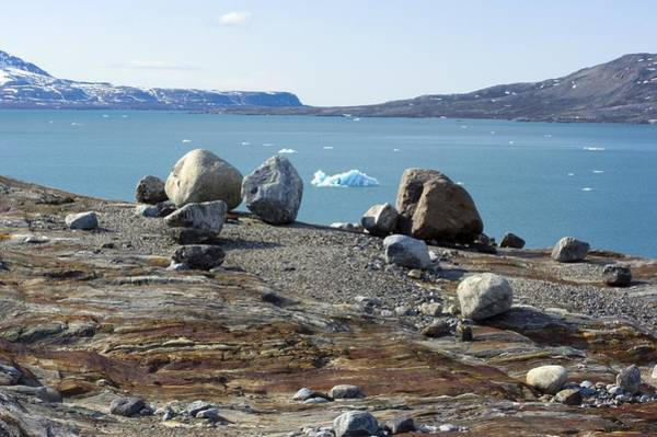 Glacial Erratic Photograph - Glacial Erratics And Fjord by Dr Juerg Alean