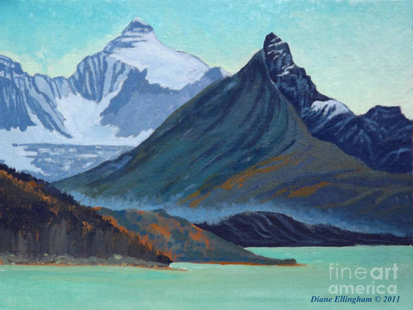 Painting - Glacial Retreat Canadian Rockies by Diane Ellingham