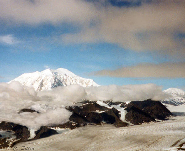 Photograph - Glacier In The Clouds by C Sitton
