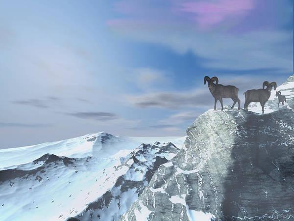 Aira Wall Art - Digital Art - Glacier by Tea Aira