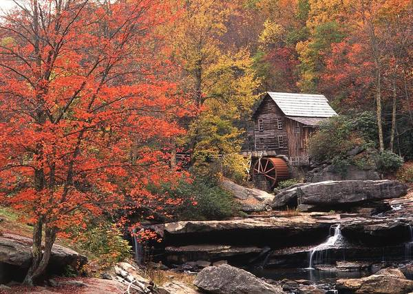 Glade Creek Grist Mill    Horizontal Art Print