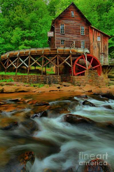 Photograph - Glade Creek Grist Mill by Adam Jewell