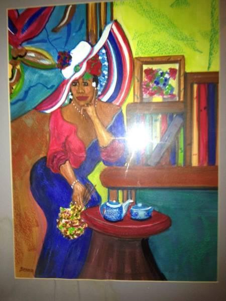 Benny Painting - Glamour Blk Lady by Benny Davis