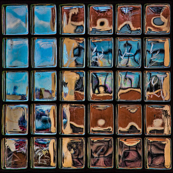 Photograph - Glass Brick Abstract by Chris Lord