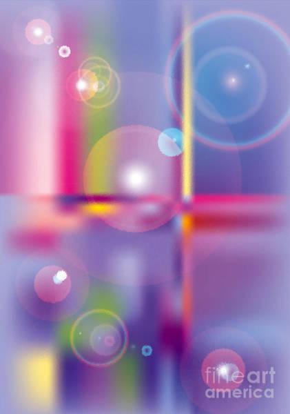 Purple Haze Digital Art - Glass Circles by Michelle Bergersen