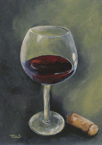 Wall Art - Painting - Glass Of Sweet Red by Torrie Smiley