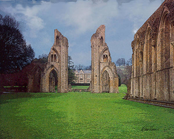 Photograph - Glastonbury Abbey by Diana Haronis