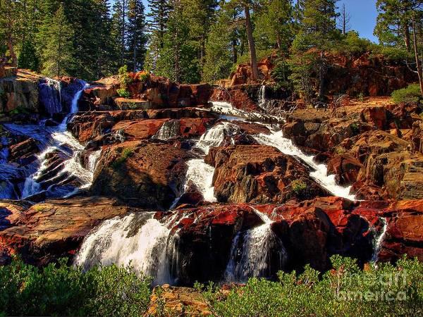Fallen Leaf Lake Photograph - Glen Alpine Falls by Scott McGuire
