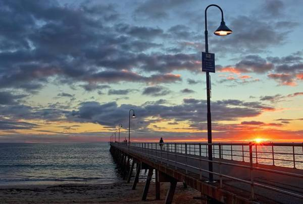 Glenelg Sunset Art Print