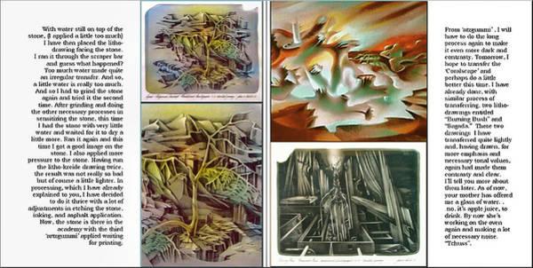 Drawing - Glenn Litho-diary 1981-85 by Glenn Bautista