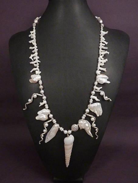 Freshwater Pearls Wall Art - Jewelry - Glistening Sands Set by Marta Eagle