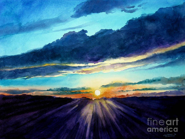 Painting - Glory Of The Sunset 2 by Christopher Shellhammer