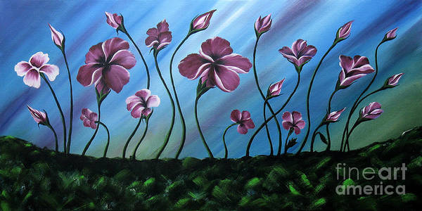 Gerbera Painting - Glowing Flowers 7 by Uma Devi