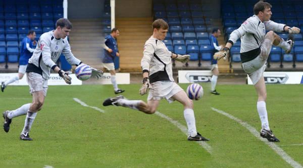 Photograph - Goalkeeper Kicking Sequence by David Birchall