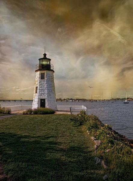 Photograph - Goat Island Light by Robin-Lee Vieira