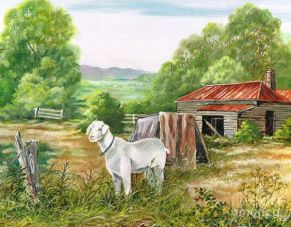 Painting - Goat Palace by Val Stokes
